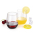 Wholesale Promotion Unbreakable Reusable Eco-friendly Plastic Stemless Wine Glasses