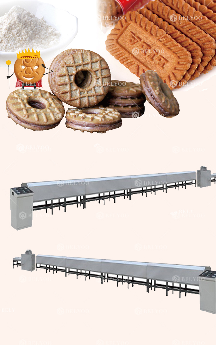 Continuous baking tunnel oven/ small cookie nut roasting machine