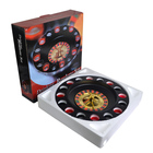 Bar gambling set 16 cup glass drinking game lucky shot casino roulette
