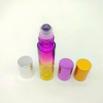 Natural Semiprecious Stones Essential Oil Glass Bottle Gemstone Roller Ball Bottles in 10ml