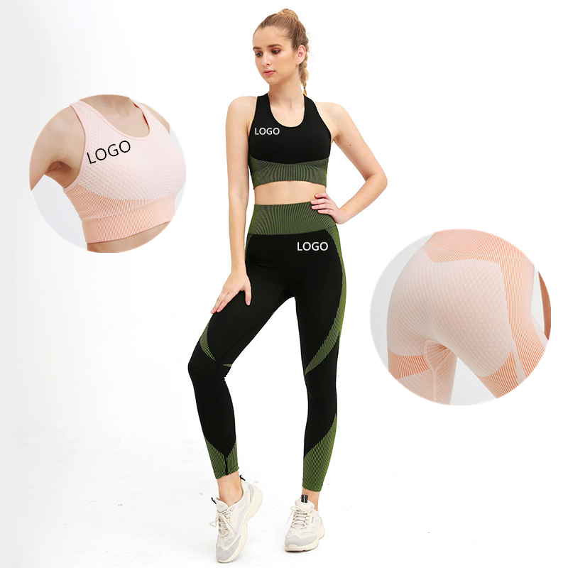 Women Custom Printed Gym Fitness Compression Workout Sport Seamless Tights Leggings Yoga Pants Yoga Outfit
