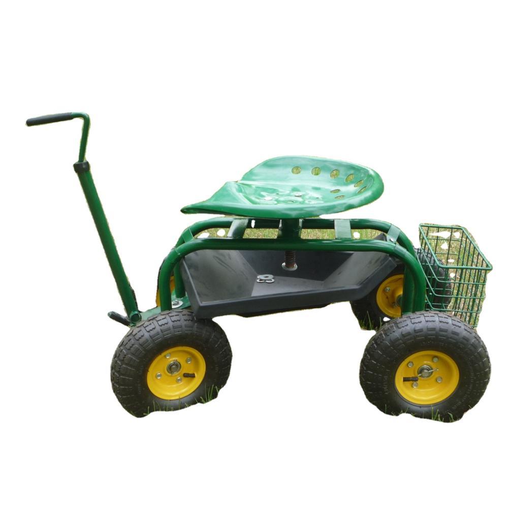 Garden Work Seat Rolling Garden Seat Cart Garden Seat With Wheels Buy Rolling Work Garden Cart Seat With Tool Tray Garden Tractor Seat Cart Green Garden Cart With Wheels Product On