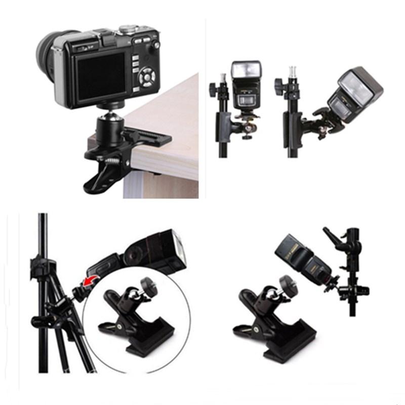 Universal Tripod DSLR Kamera Mount Klip Clamp dengan 360 Derajat Putar Mini Ball Head untuk ACTION Kamera GoPro