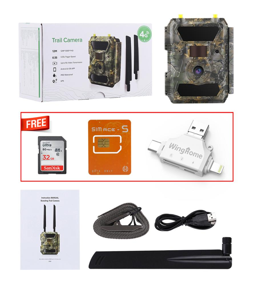 4G LTE APP Control SIM card motion detection night vision game deer outdoor IP66 security wildlife hunting trail camera