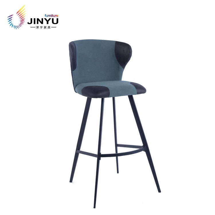 high bar kitchen chair with metal legs for cafe bar