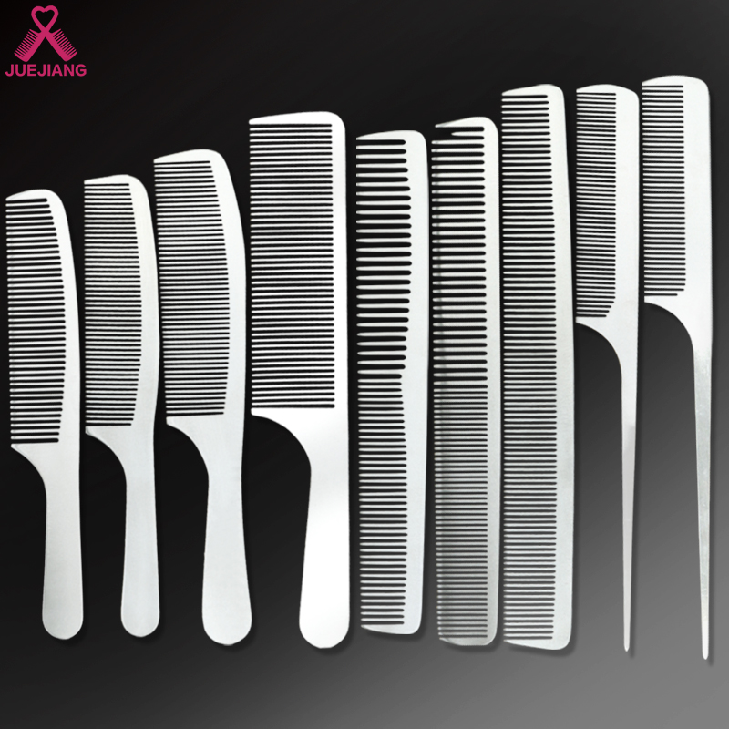 Wholesale Custom Logo Barber Hairdressing Salon Stainless <strong>Steel</strong> Metal Rat Tail Pin <strong>Hair</strong> Cutting <strong>Comb</strong>