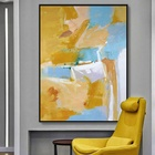 Nordic Abstract Oil Painting on Canvas , Art Poster Print Wall Art Pictures For Living Room Bedroom