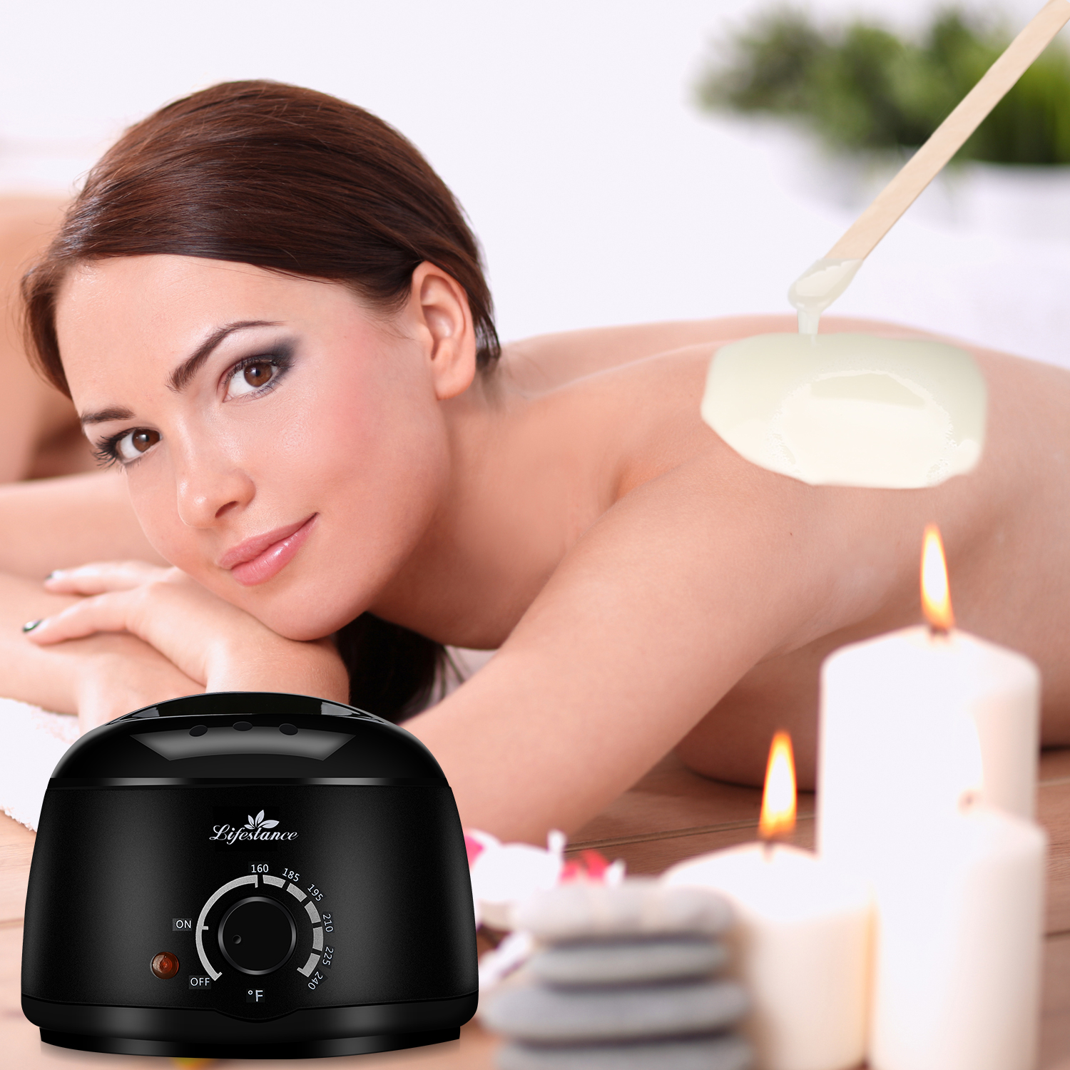 Lifestance 500cc Electric Wax Warmer Professional Hair Removal Wax Heater