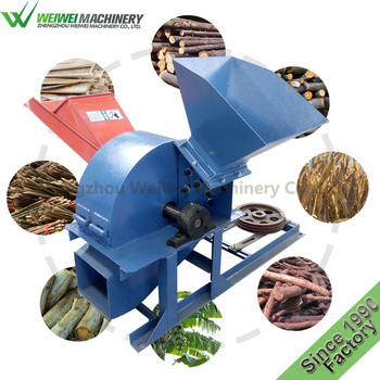 Weiwei garden wood waste crusher used small wood chipperdiesel engine mobile wood chipper