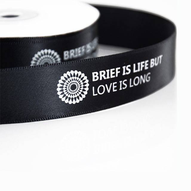 Custom Grosgrain Personalised Ribbon Brand Name Logo Printed Velvet Ribbon
