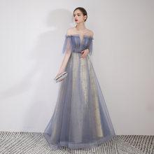 YIDINGZS 2019 Новое Тюлевое длинное вечернее платье Элегантное блестящее вечернее платье(Китай)