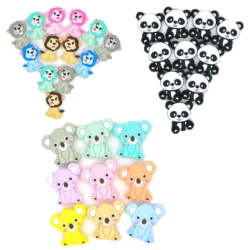 Chinese Products BPA Free Silicon Beads Baby Teething Silicone Letter Beads