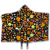custom design halloween blanket winter thick print pattern square blanket with hats