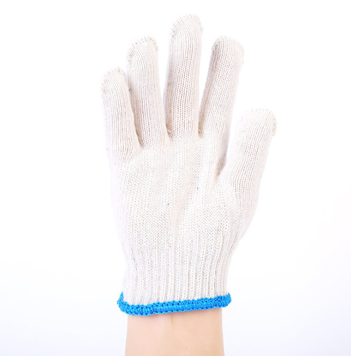 Cheap price disposable gloves friendly cotton polyester knit work gloves for household cleaning garden