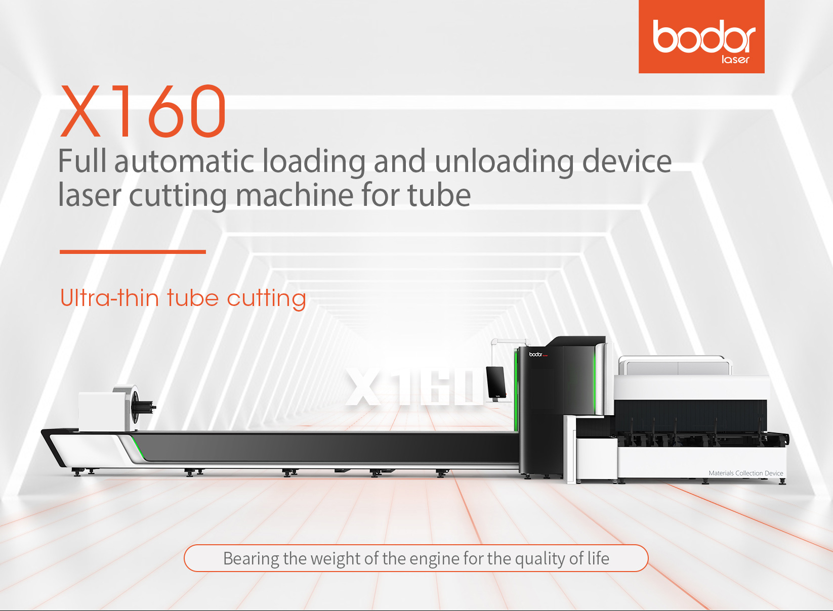 1000W metal tube laser cutting machine Bodor IPG fiber laser cutting machine with CE ISO certificate cutter