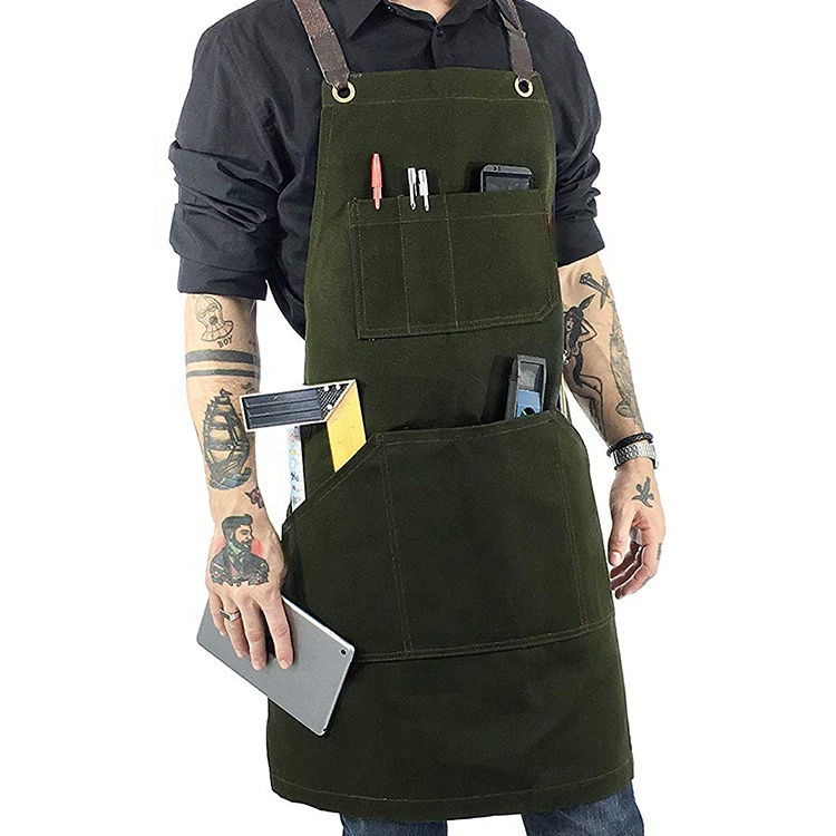 AFTAYWTA040 Leather Welding Stylish Wonderful Heavy Duty Waxed Canvas Apron