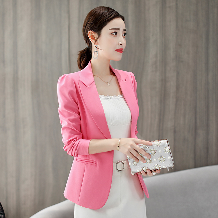 Z85541A 2020 fashion newest style pure color blazers woman blazers