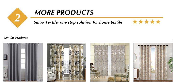 Ready Made Window Curtains Blackout Triple Weaving 100% Polyester Solid Blackout Curtains for Living Room