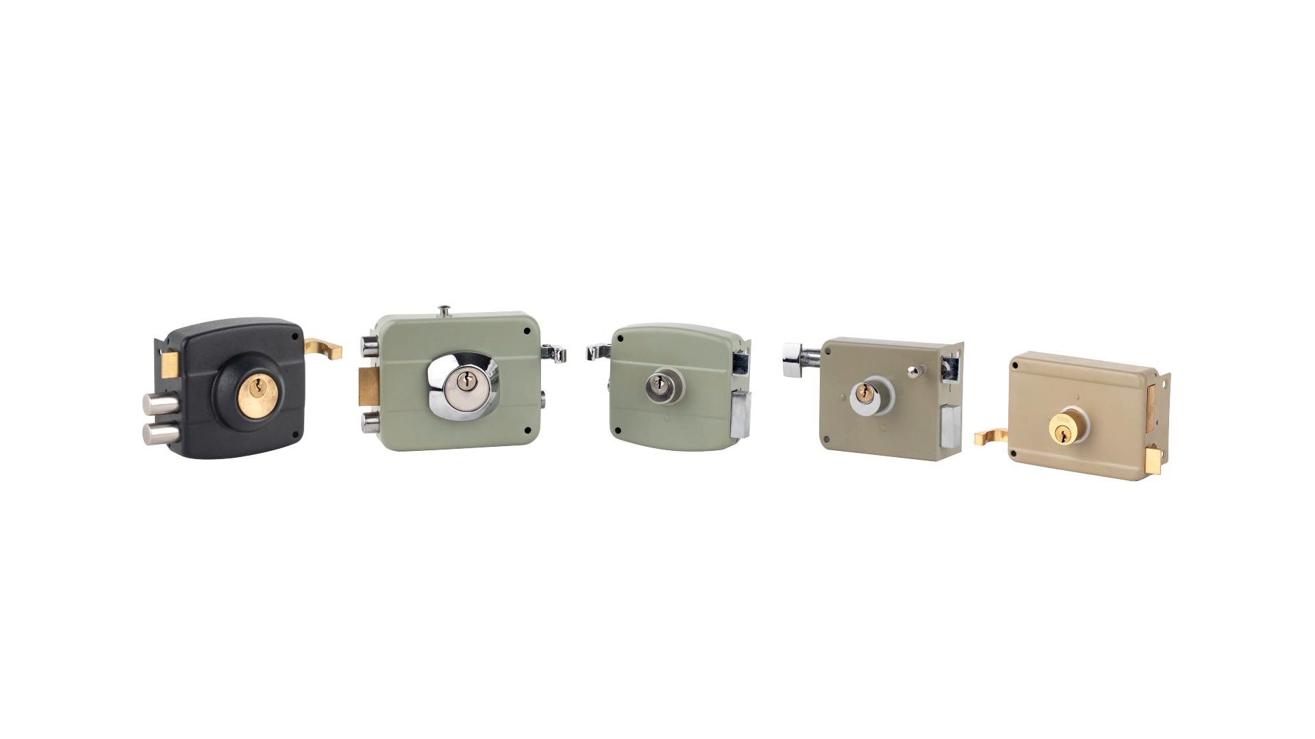 Brass lock cylinder anti-theft rim Middle East door rim lock