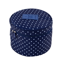 New Portable Round Travel Underwear Organizer Bag Cosmetic Bag