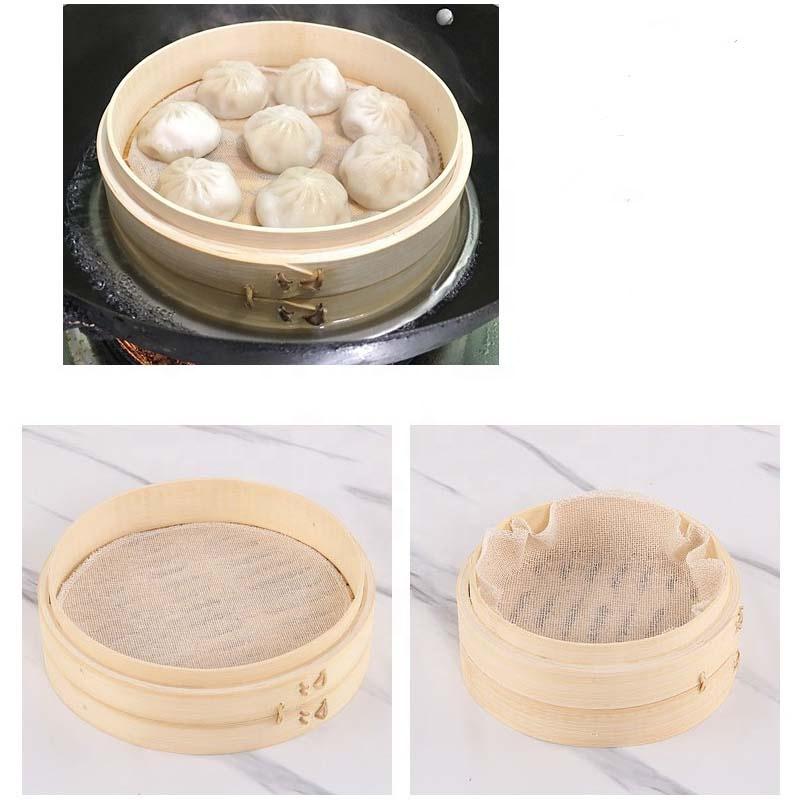 2020 Eco-friendly Baozi Bamboo Steamer Basket China
