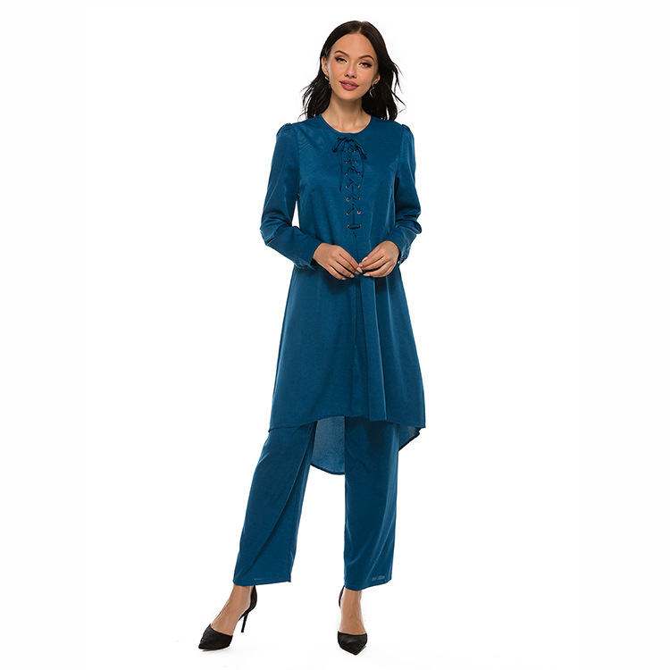 Muslim <strong>Lace</strong> two 2 piece set <strong>women</strong> Islamic <strong>clothing</strong> Festival Ethnic Set <strong>women</strong> fall <strong>clothing</strong> for <strong>women</strong> import plus size clothes