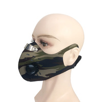 Best service Stock Riding Camouflage Motorcycle Cycling Face Cover with Filter hanger earloop face cover with valve