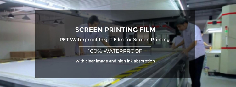 Waterproof PET Based Positive Screen Printing Inkjet Transparency Film for Inkjet Plotter