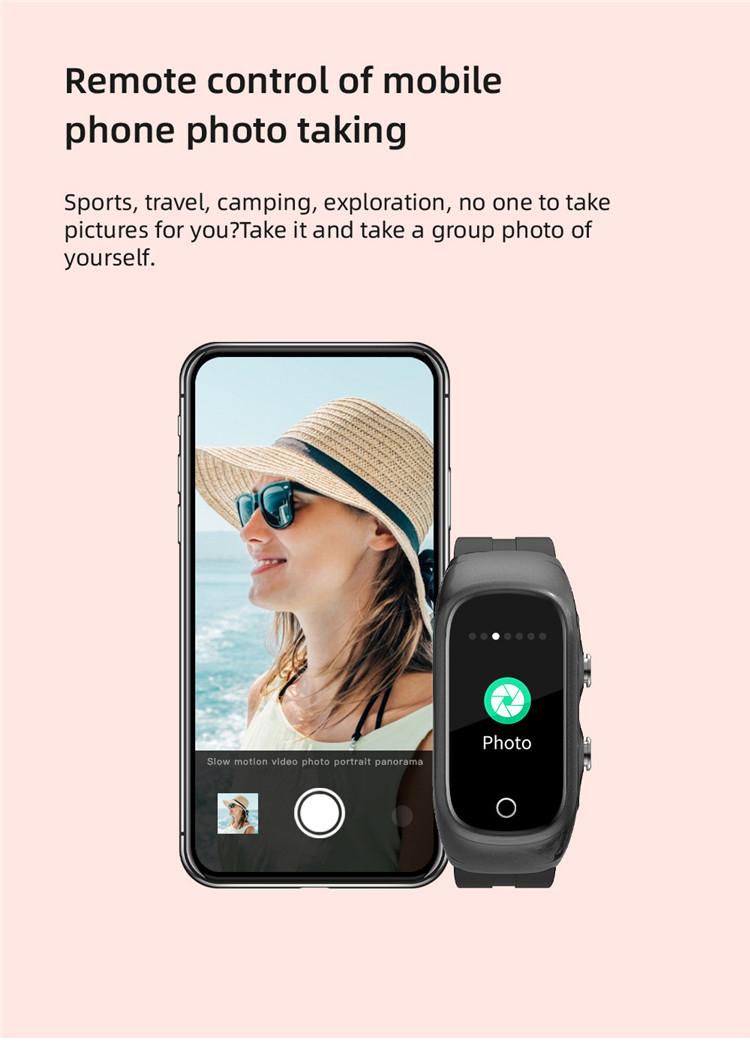 New products 2021 Heart Rate Fitness Tracker Blood Pressure Monitor Smartwatch 2 in 1 Earphone Men Women Smart watch N8