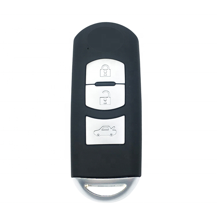 Keyless Go 3 Button Remote Smart Car Key Shell Case Cover Blank Fob For Mazda CX5