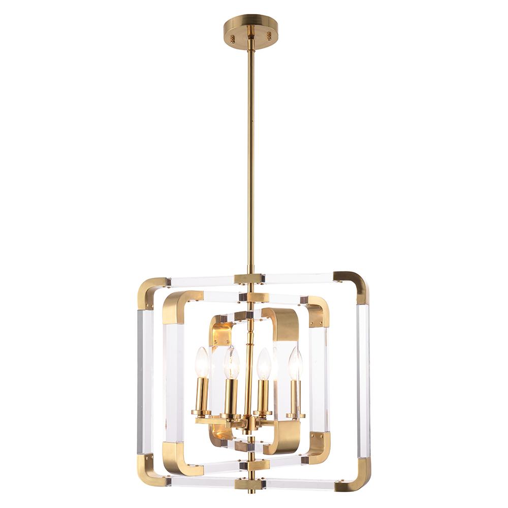 Hot Sale 2020 Solid Brass Designer Acrylic Decorative Pendant Chandelier Modern for Living Room