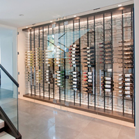 Wall mounted wine cellar used hanging wine rack/commercial metal wine holder