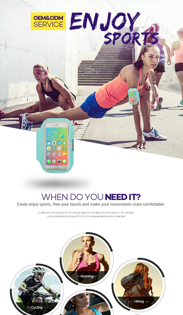wholesale best cell phone armband for running for iPhone 11 XR XS MAX 8 Plus Samsung
