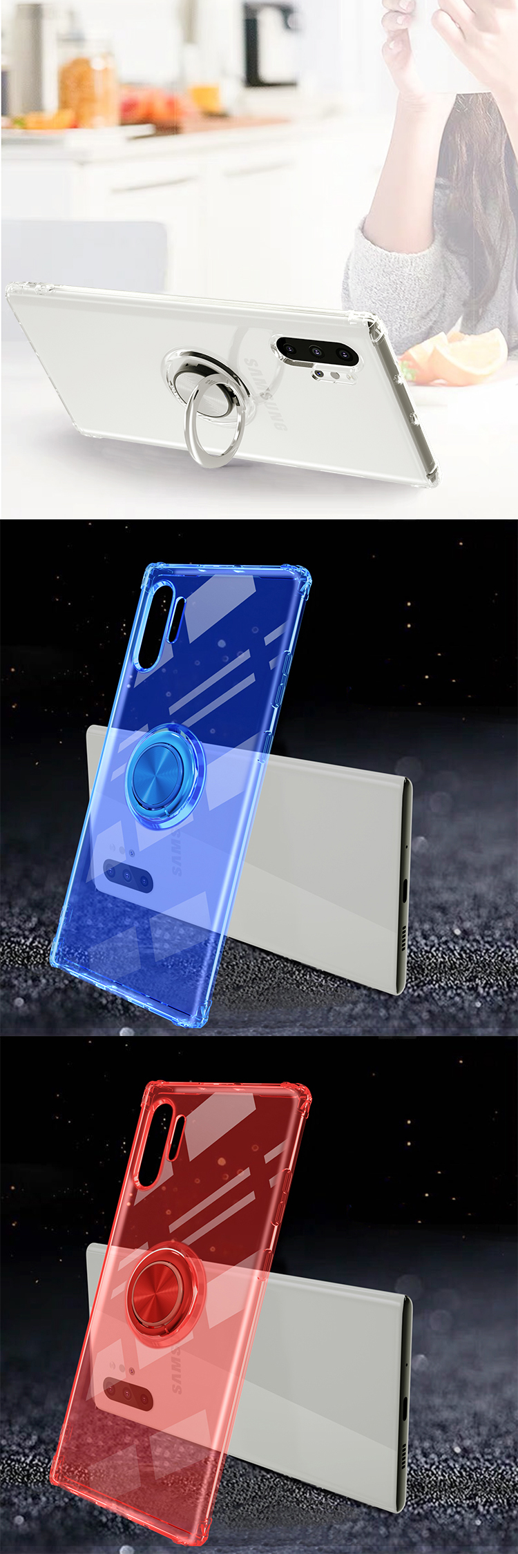 Transparent TPU Case Soft Phone Covers For Samsung Galaxy Note 10 Pro / Note 10 plus / Note 10 Cases