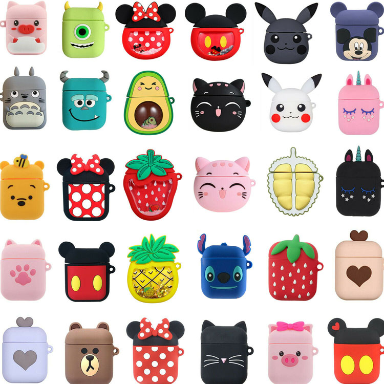 Cute 3D cartoon earphone soft protective cover for apple airpods pro 3 2 1 charging case covers airpod funda para auriculares