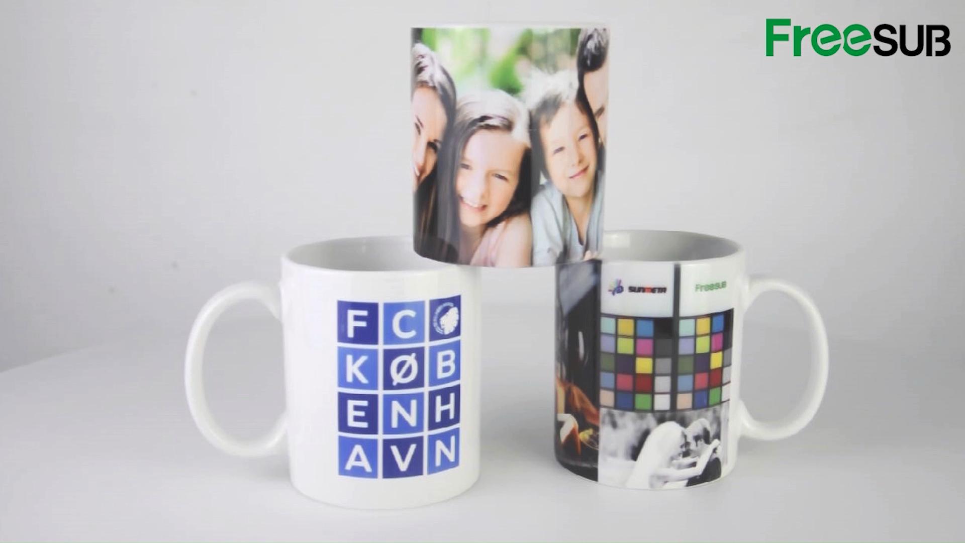 Sunmeta white blank ceramic sublimation coffee mug for promotion