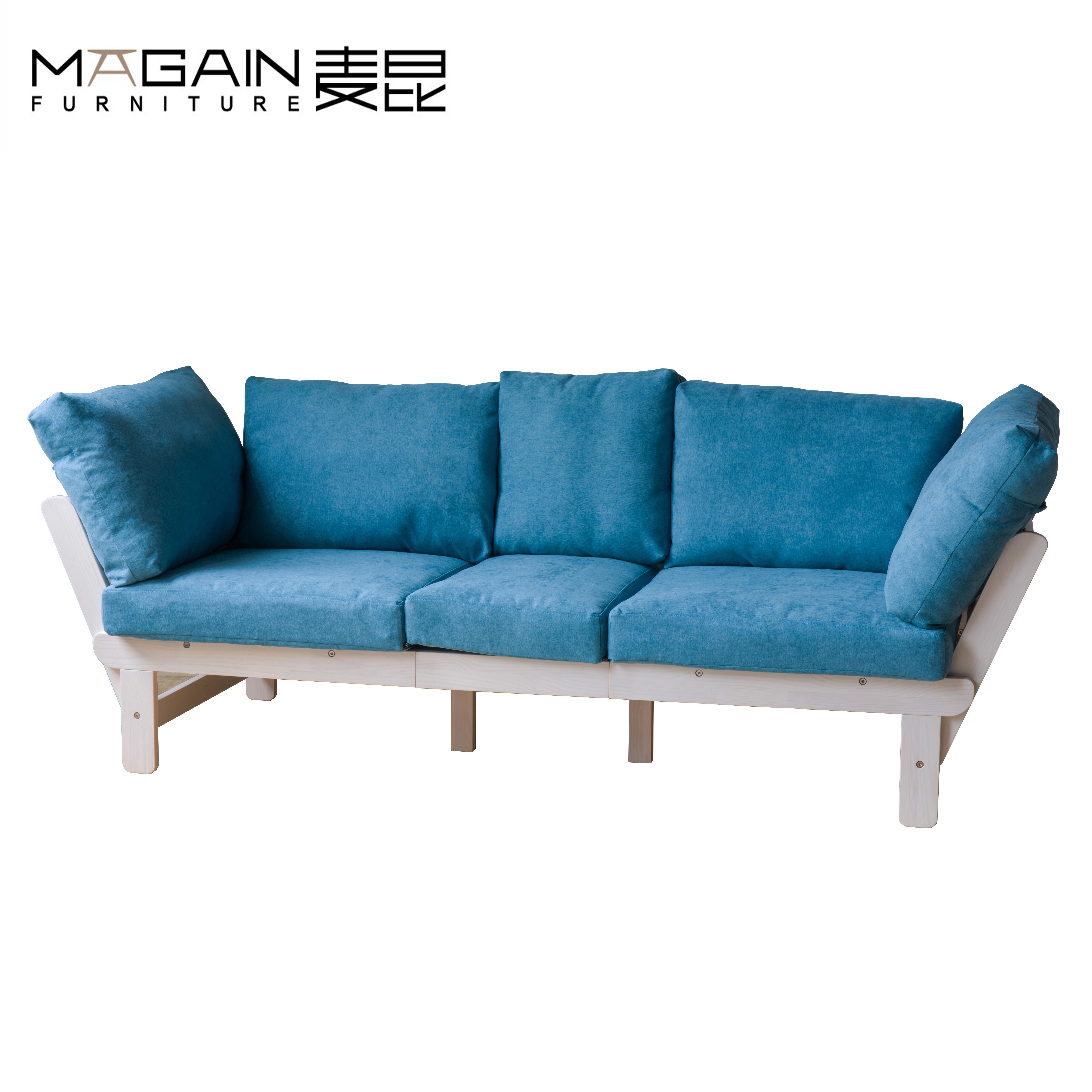 - Different Color Living Room Set Solid Wood Folding Sofa Cum Bed