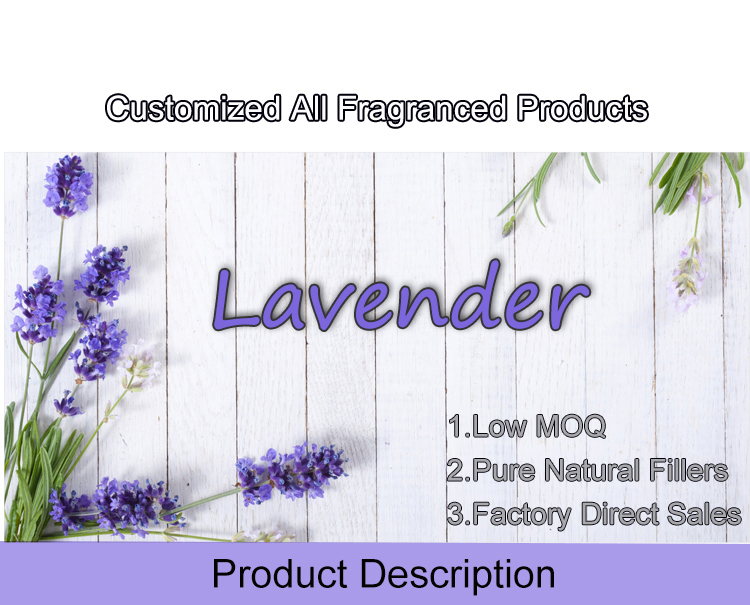 Embroidered Lavender Pattern Eco-friendly Scented Cotton Sachet Baby Smell For Customization