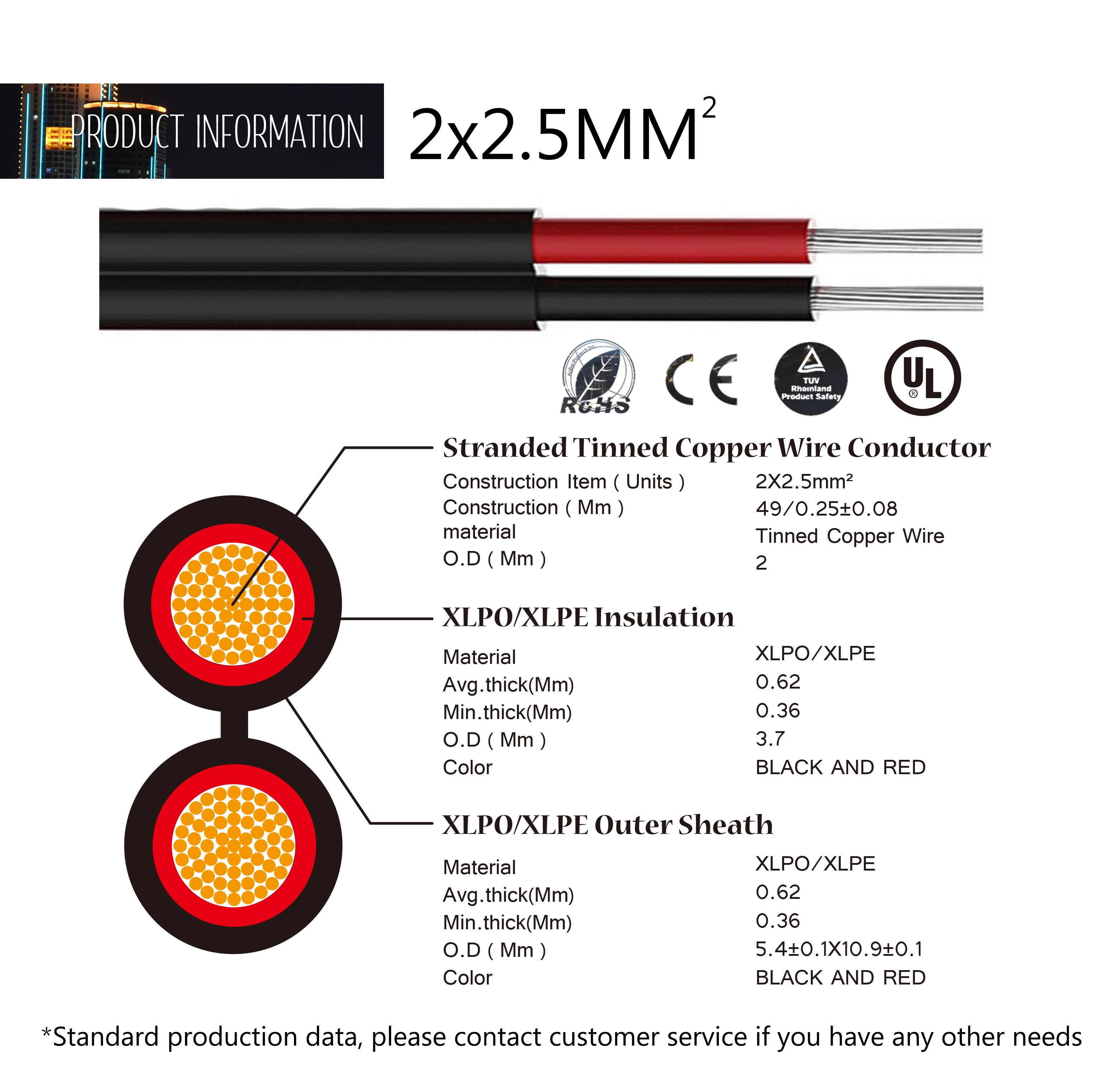pv cable 4mm2 25mm2 xlpe 12awg solar cable price