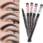 Chemical Sketch Liquid Eyebrow Pencil Private Label Waterproof Brown Eye Brow Tattoo Dye Tint Pen Liner Long Lasting Eyebrow Enhancers
