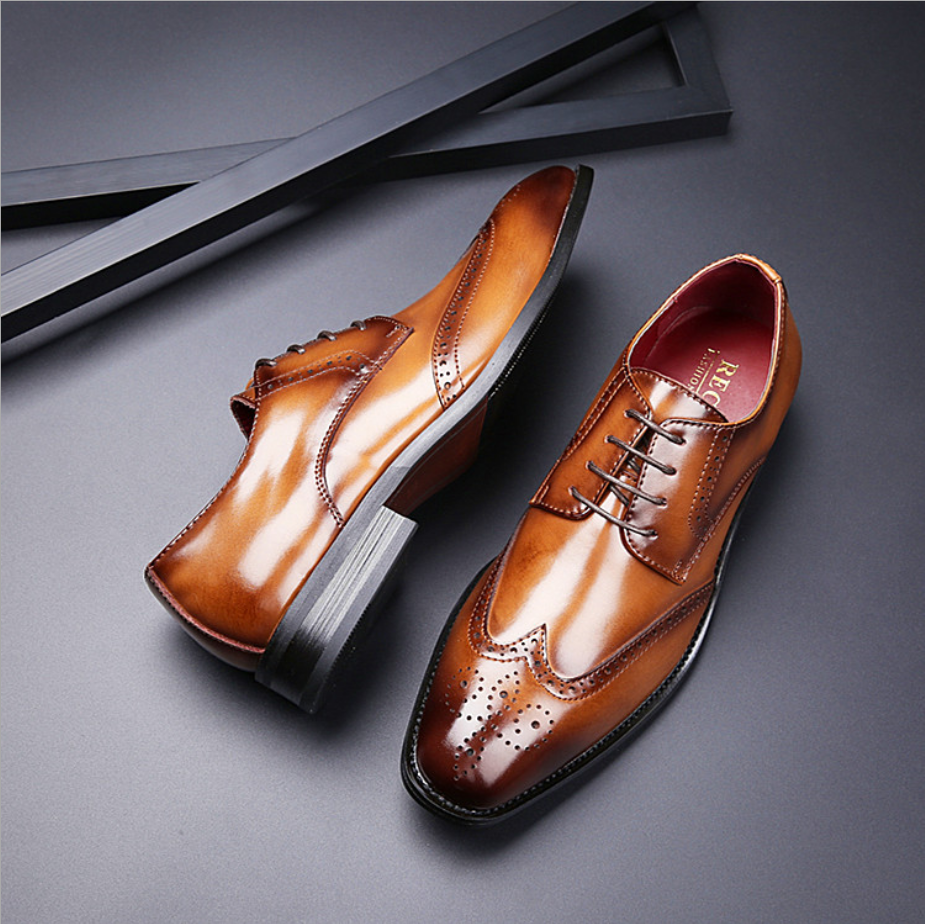 2020 japanese new top layer carved leather formal business men luxury leather shoes zuelas de cuero para hombres