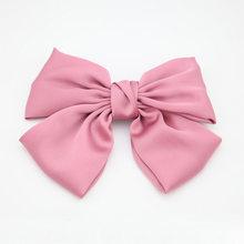 INS/Модная большая заколка-бабочка для волос, атласная двухслойная заколка-бабочка с бантом, аксессуары для волос для девочек, заколки для во...(China)