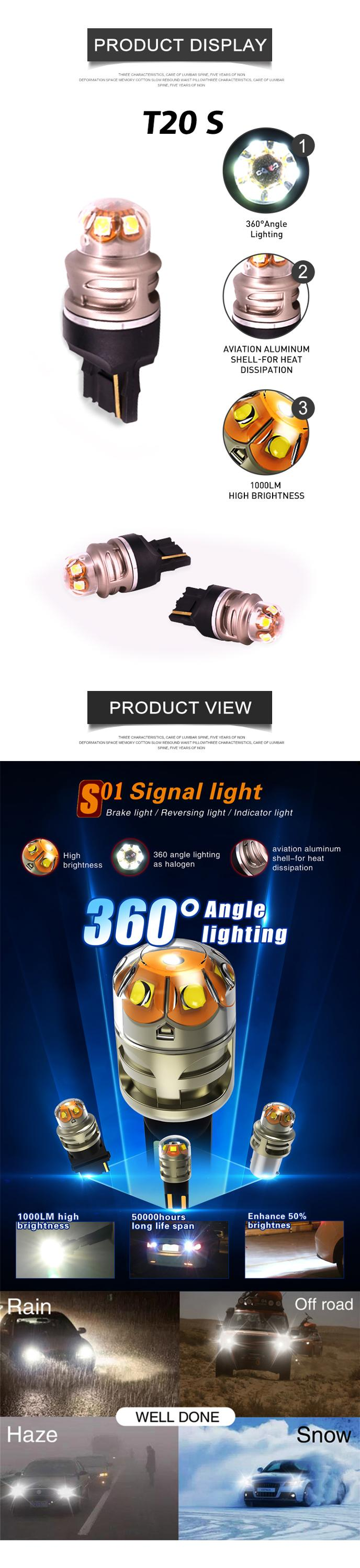 Anycar S01 T20S 450LM led bulb front fog lamp motorcycle
