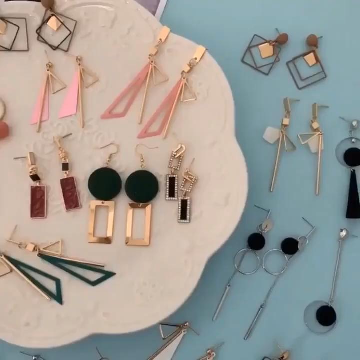 2020 statement women  earrings fashion korean jewelry luxury gold earring