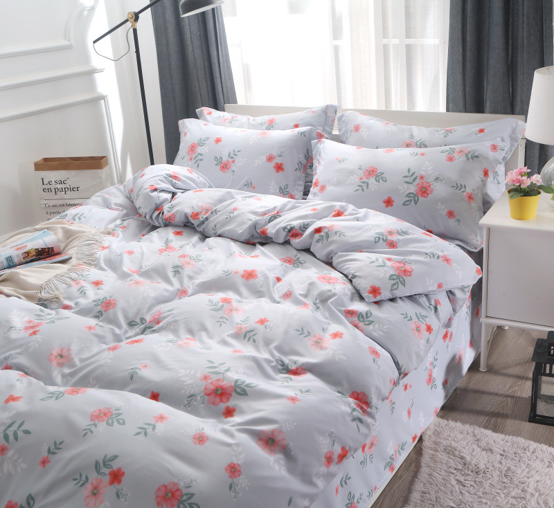 Double Sides Bedding Set, Light Grey Printing Set Bed <strong>Sheet</strong>/