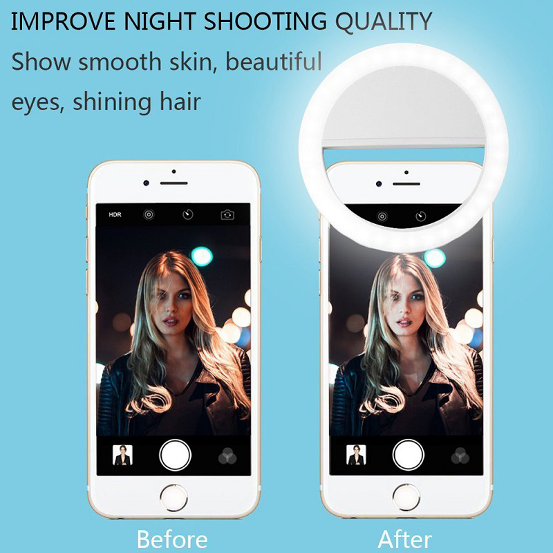 Selfie Ring Light Mini USB Camera Flash Phone LED Light Suit For Android And IOS