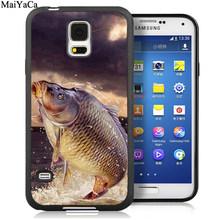 MaiYaCa Карп Рыба FISHIN мягкий резиновый чехол для мобильного телефона для samsung Galaxy S5 S6 S7 edge S8 S9 S10 Plus Lite Note 8 9 задний Чехол(Китай)