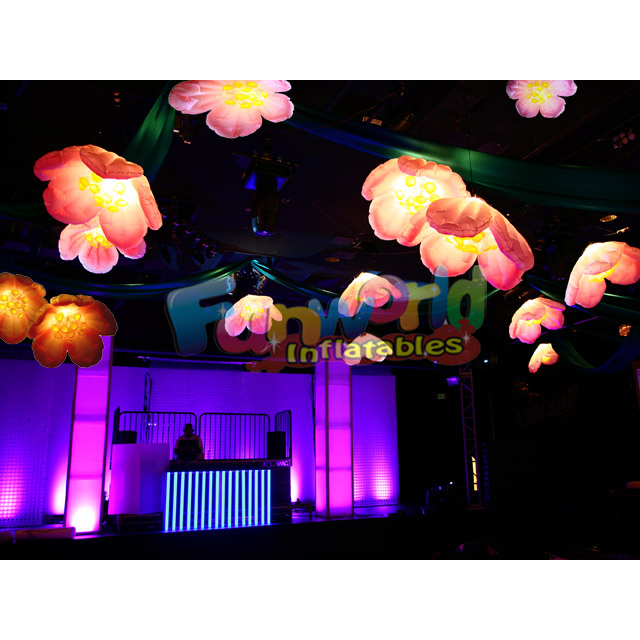 Ceiling decoration advertising inflatable tulip lighting inflatable flower