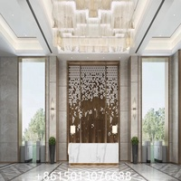 Restaurant Modern Screens and Hanging Curtain Room Divider