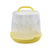 Plastic Cake Carrier Container Snap and Stack 3 Tier Cupcake Muffins Holder